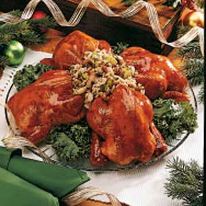 Currant-Glazed Cornish Hens Recipe