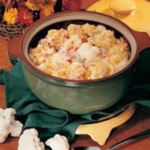Cauliflower and Ham Casserole Recipe