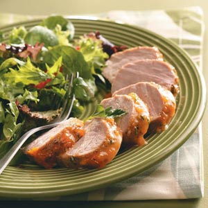 Apricot-Glazed Pork Tenderloin for Two Recipe