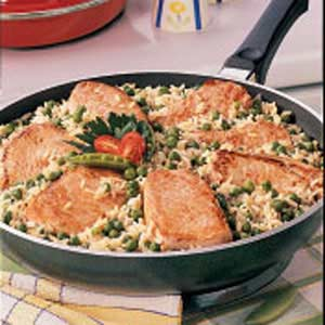 Pork Chops Over Rice Recipe