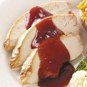 Cranberry-Glazed Turkey Breast Recipe