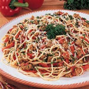 Spicy Sausage Spaghetti Recipe