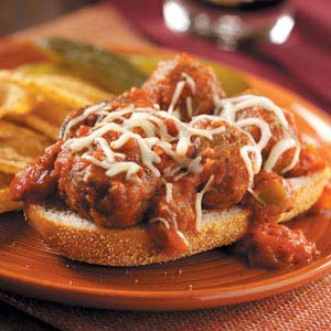 Open-Faced Meatball Subs Recipe