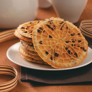 Hazelnut Chocolate Chip Pizzelle Recipe