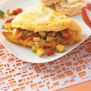 Fresh Vegetable Omelet Recipe