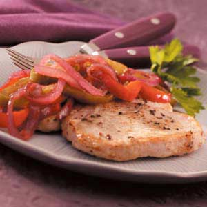 Pork with Sweet Pepper Relish Recipe