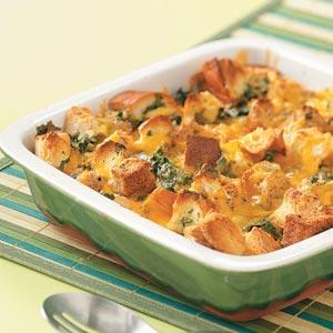 Southwest Spinach Strata Recipe