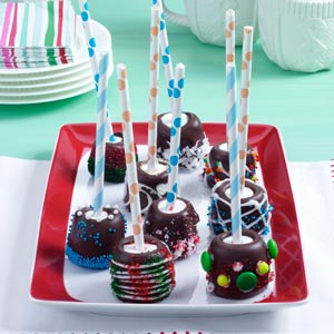 Chocolate-Topped Marshmallow Sticks Recipe