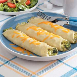 Broccoli Cheese Crepes Recipe