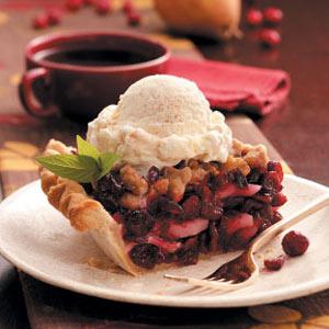 Cranberry Pear Pie Recipe