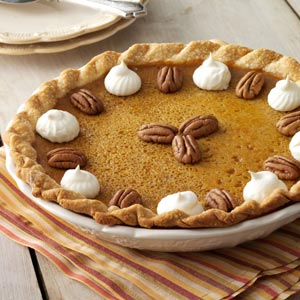 Maple Pumpkin Pie with a Crunch Recipe