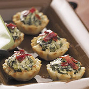Spinach Bacon Tartlets Recipe