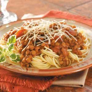 Hearty Lentil Spaghetti Recipe