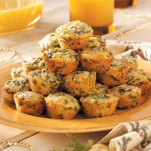 Spinach-Corn Bread Bites Recipe