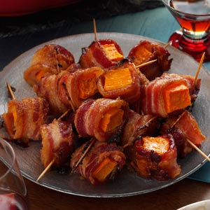 Bacon-Wrapped Sweet Potato Bites Recipe