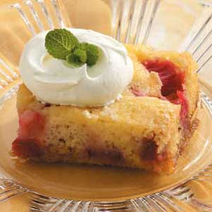 Rhubarb Dessert Cake Recipe
