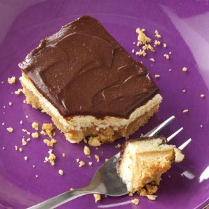 Chocolate-Peanut Cheesecake Bars Recipe