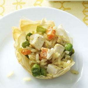 Curried Chicken and Rice Tartlets Recipe