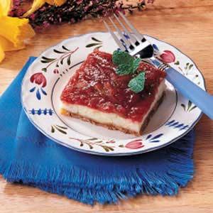 Rhubarb Cheesecake Dessert Recipe