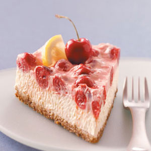 Makeover Cherry-Topped Cheesecake Recipe