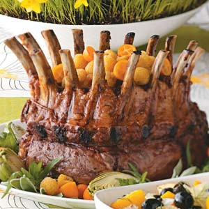 Glazed Pork Crown Roast Recipe