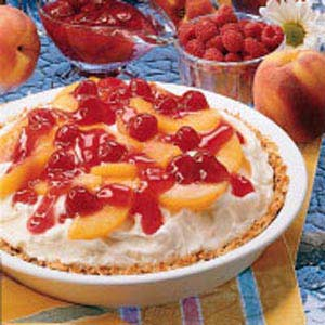 Peach Melba Ice Cream Pie Recipe