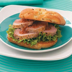 Roast Pork Sandwiches with Peach Chutney Recipe
