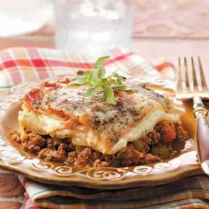 Beef 'n' Sausage Lasagna Recipe