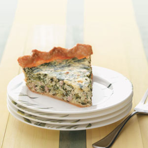 Makeover Sausage & Spinach Pie Recipe