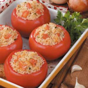 Stuffed Tomatoes with Rice Recipe