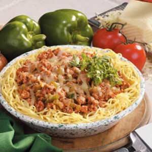 Turkey Spaghetti Pie Recipe