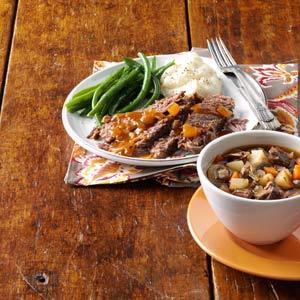 Sunday Herbed Pot Roast Soup Recipe