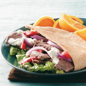 Red, White and Blue Pita Pockets Recipe