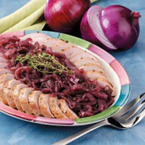 Pork Tenderloin with Glazed Red Onion Recipe