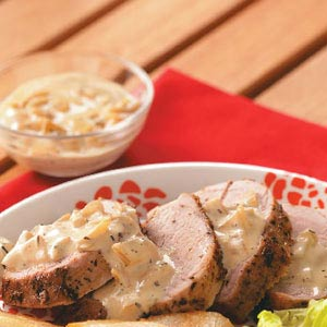 Pork Tenderloin with Pear Cream Sauce Recipe