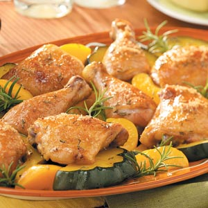 Baked Chicken and Acorn Squash Recipe