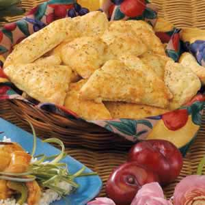 Cheesy Biscuit Triangles Recipe