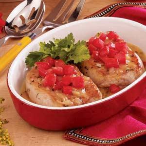 Pork Chops with Herbed Gravy Recipe