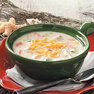 Salmon Zucchini Chowder Recipe