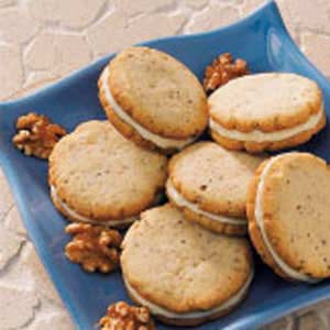 Walnut Sandwich Cookies Recipe