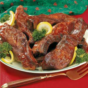 Mom's Oven-Barbecued Ribs Recipe