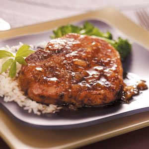 Pork Chops with Ginger Maple Sauce Recipe