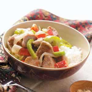 Gingered Pork and Veggies Recipe