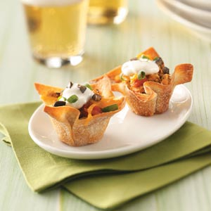 Chicken Taco Cups Recipe