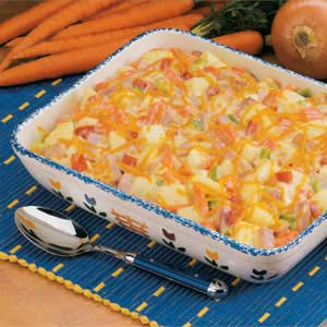 Makeover Ham 'n' Potato Bake Recipe