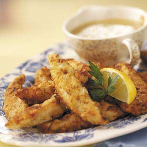 Chicken Fingers with Lemon Sauce Recipe