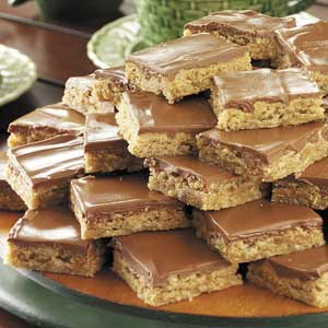 Glazed Peanut Butter Bars Recipe