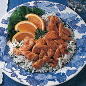 Garlic Chicken on Rice Recipe