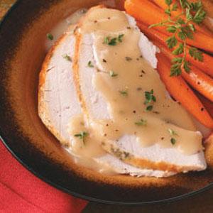 Roast Turkey Breast with Rosemary Gravy Recipe