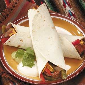 Tender Steak Fajitas Recipe